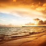 sunrise and atlantic ocean in Dominican republic