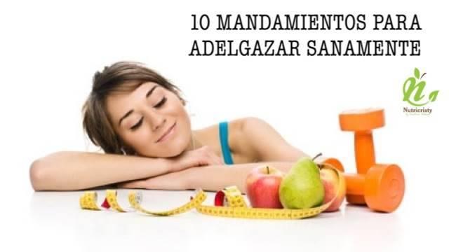 mandamientos para adelgazar sanamente