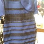 Vestido blanco y dorado o negro y azul