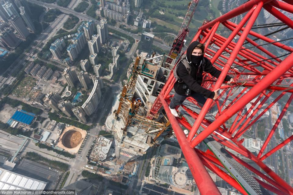 Selfie en el segundo edificio más alto del mundo