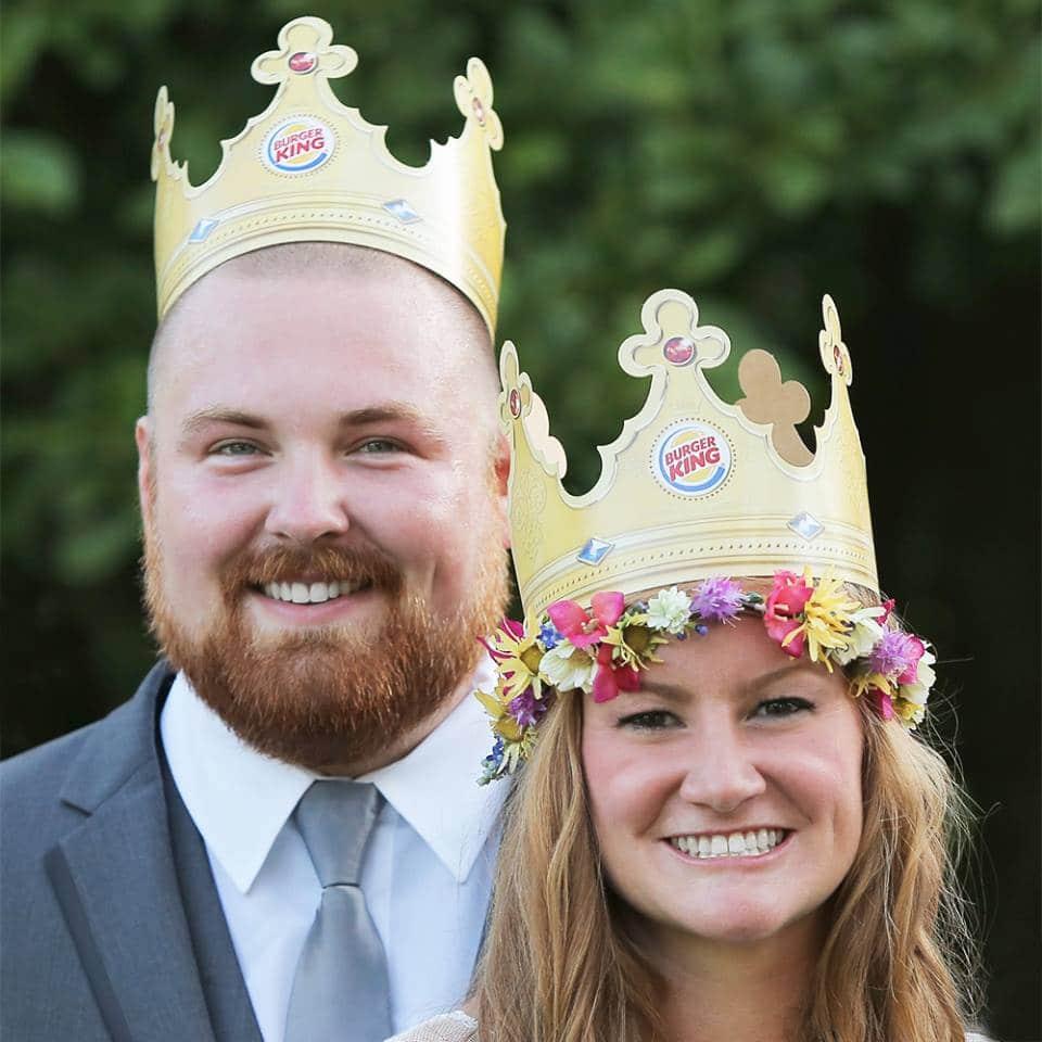 boda de la pareja burger king