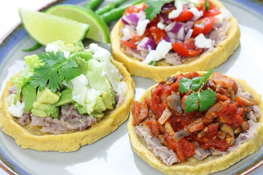 platillo de exótica comida mexicana