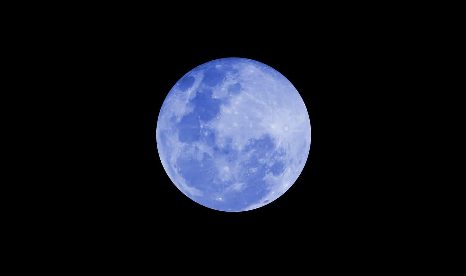fenómeno cósmico de la luna azul