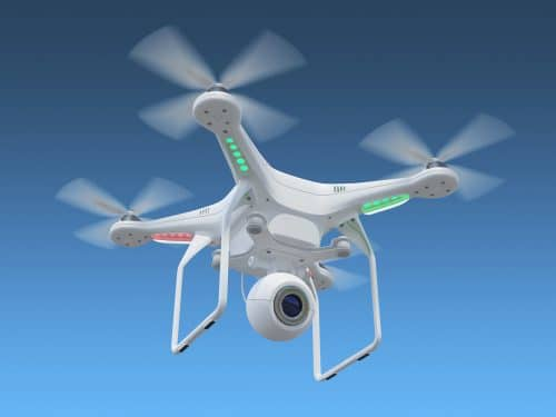 Un drone, transportador de drogas