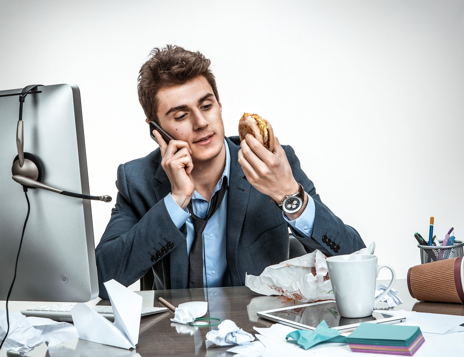 Cuida tu alimentación mientras trabajas