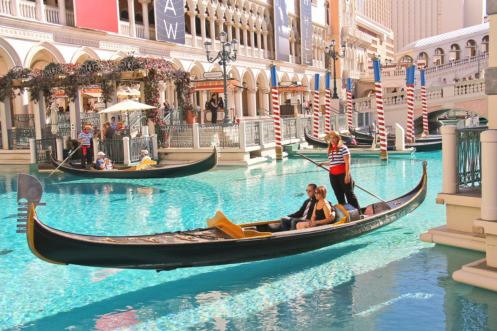 Paseo en góndola en el Hotel Venetian de Las Vegas