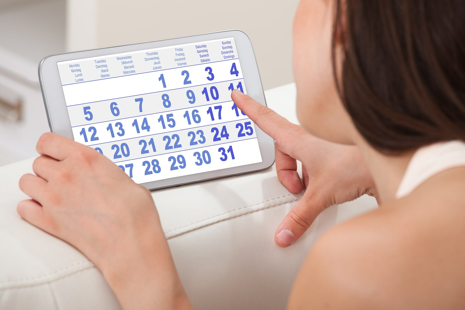¿Eres muy irregular a la hora de tu periodo?