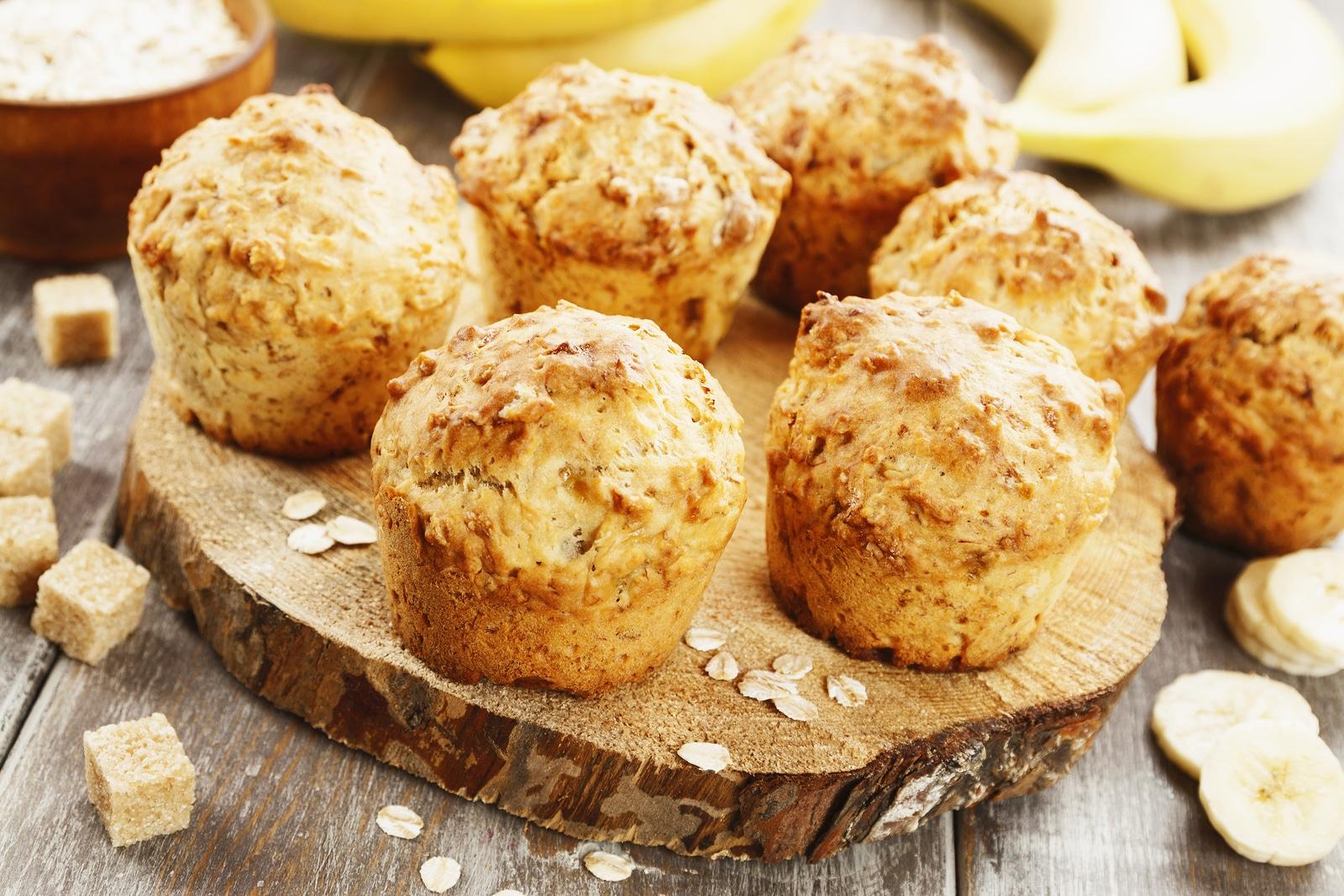 [Receta] Muffins de plátano veganos