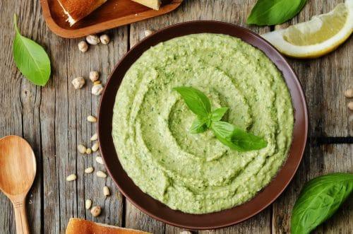 RECETA SALUDABLE Humus de garbanzo con cilantro