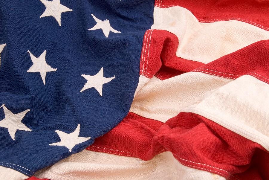 bandera de estados unidos en tela
