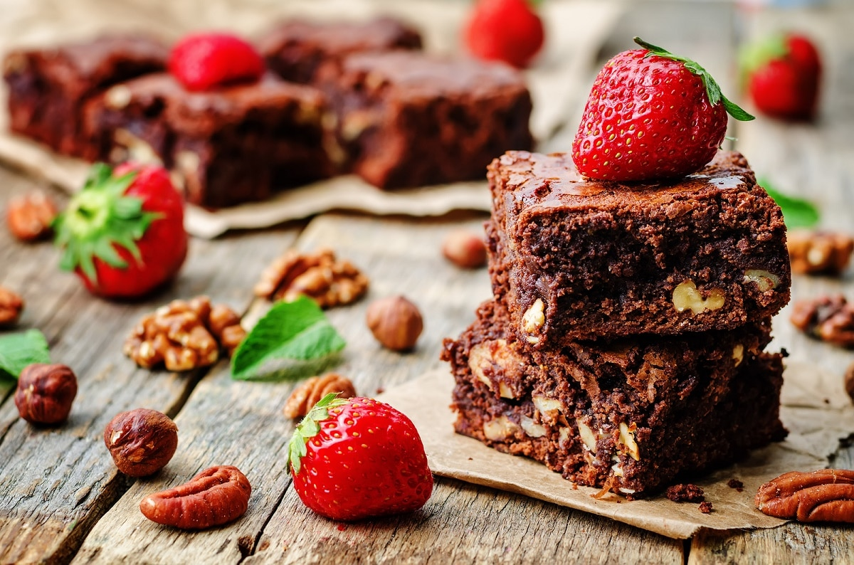 receta de brownies de camote