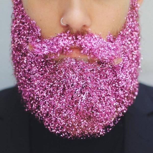 barbas brillosas moda de hombres