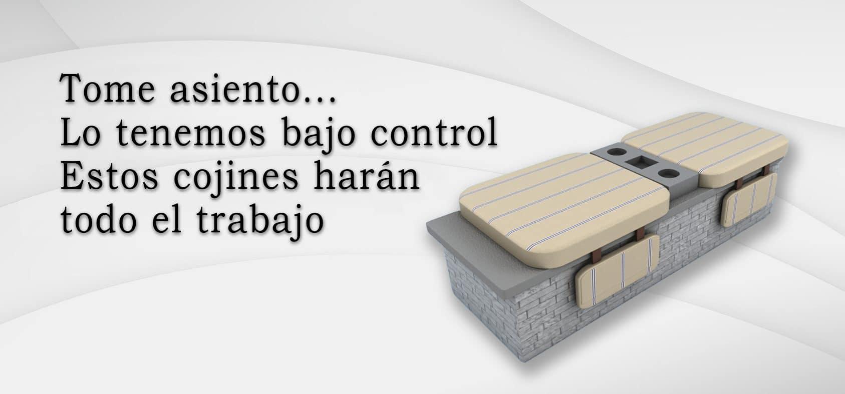 Cojines para asientos de concreto ... ¡Una maravillosa idea!
