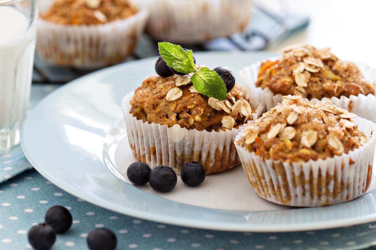 Receta: Muffins Veganos de Zanahoria