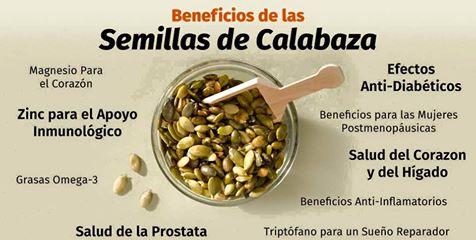 beneficios de las semillas de calabaza